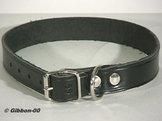 Halsband läder Alac, svart, 18 mm.