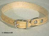 Halsband läder Alac, natur, 12 mm.