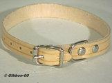Halsband läder Alac, natur, 18 mm.