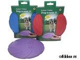 Hundleksak Frisbee i gummi mixade färger